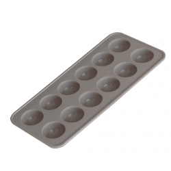 """MOULE SILICONE """"MES BOUCHEES CHOCOLATEES""""-12 DEMI-SPHERES"""